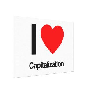 i love capitalization stretched canvas prints
