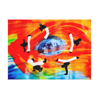 i love capoeira gallery wrapped canvas