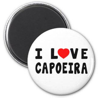 I Love Capoeira Martial Arts Refrigerator Magnets
