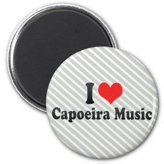 I Love Capoeira Music Fridge Magnet