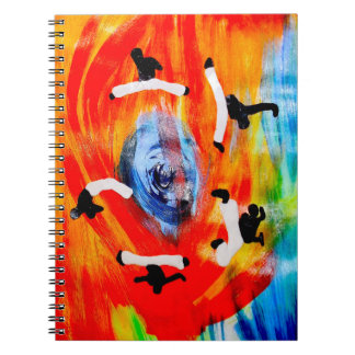 i love capoeira spiral notebooks