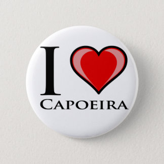 I Love Capoeira Pinback Button
