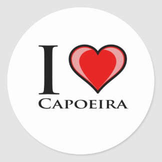 I Love Capoeira Sticker