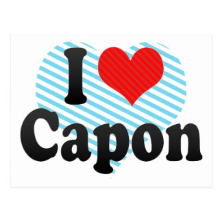 I Love Capon Postcard