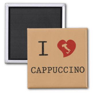 I Love Cappuccino Vintage 2 Inch Square Magnet