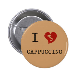I Love Cappuccino Vintage Pins