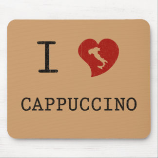 I Love Cappuccino Vintage Mouse Pad