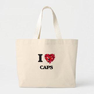 I love Caps Jumbo Tote Bag