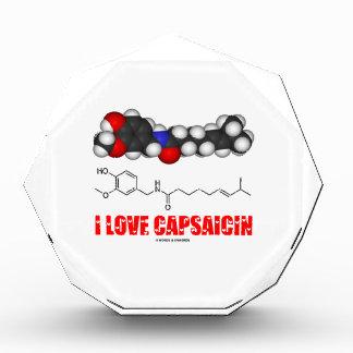 I Love Capsaicin (Chemical Molecule) Acrylic Award