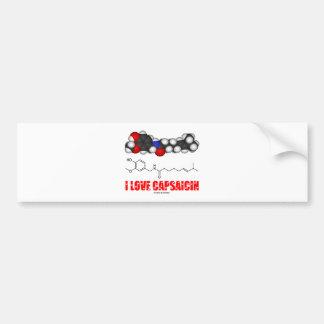 I Love Capsaicin (Chemical Molecule) Bumper Stickers
