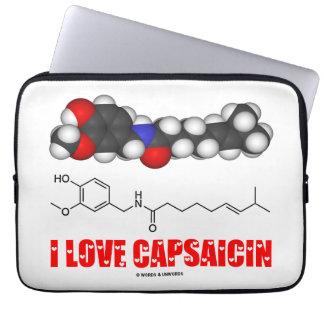 I Love Capsaicin (Chemical Molecule) Laptop Sleeve