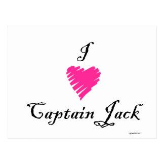 I love Captain Jack Postcard