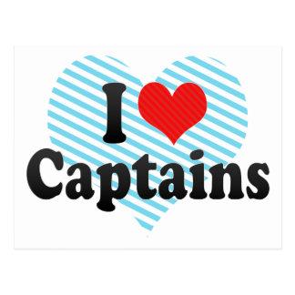 I Love Captains Post Card