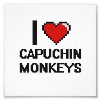 I love Capuchin Monkeys Digital Design Photo Print