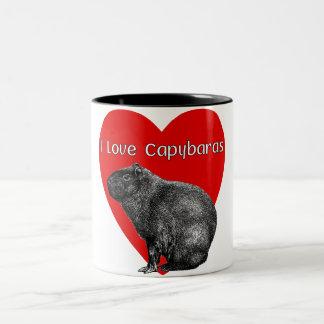 I Love Capybara Mugs