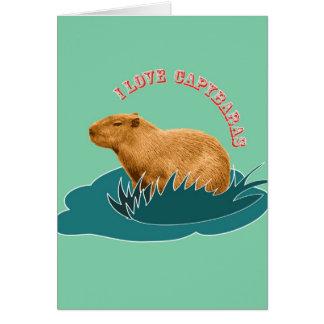 I Love Capybaras Card