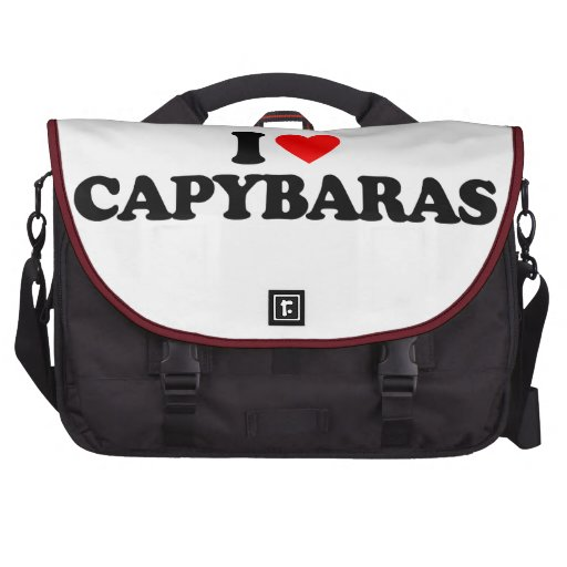 I LOVE CAPYBARAS COMMUTER BAG