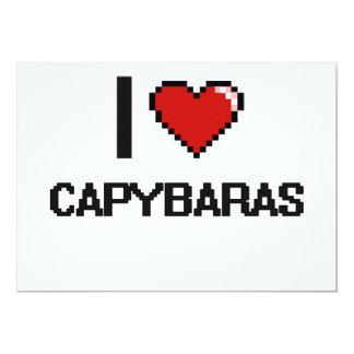 I love Capybaras Digital Design 5x7 Paper Invitation Card