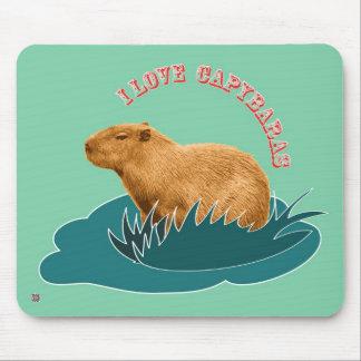 I Love Capybaras Mouse Pad