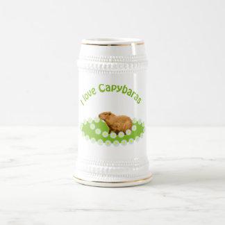 I love Capybaras 18 Oz Beer Stein