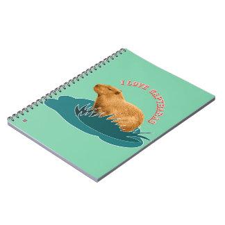 I Love Capybaras Notebook