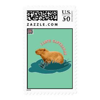 I Love Capybaras Postage