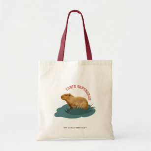 I love capybaras tote bag
