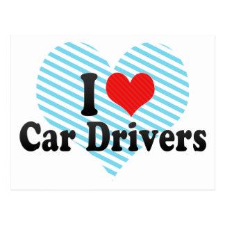 I Love Car Drivers Postcards