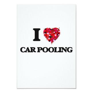 I love Car Pooling 3.5x5 Paper Invitation Card