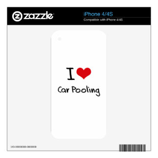 I love Car Pooling Decal For The iPhone 4