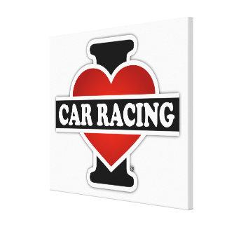I Love Car Racing Canvas Print