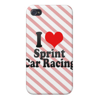 I love Car Racing iPhone 4 Cases