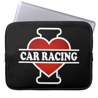 I Love Car Racing Laptop Sleeve