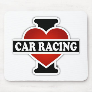 I Love Car Racing Mouse Pad