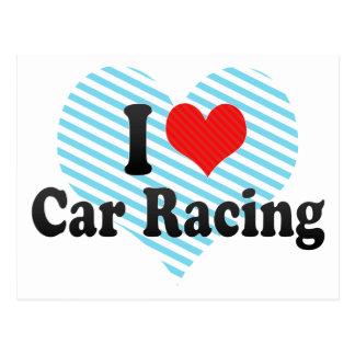 I Love Car Racing Postcard