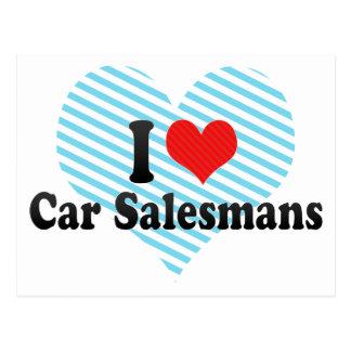 I Love Car Salesmans Post Cards
