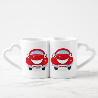 I Love Car Wash Happy Face Coffee Mug Set