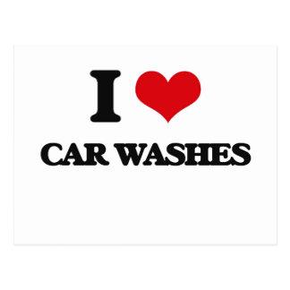 I love Car Washes Postcard