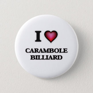 I Love Carambole Billiard Pinback Button