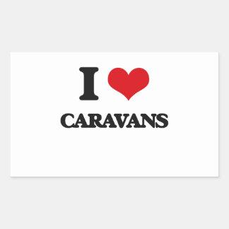 I love Caravans Rectangular Sticker