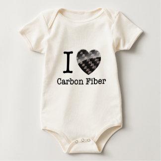 I Love Carbon Fiber Baby Bodysuits