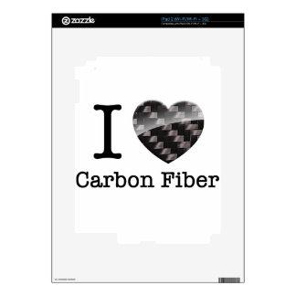 I Love Carbon Fiber Decals For The iPad 2