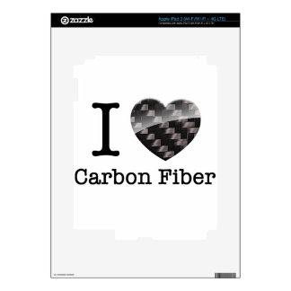 I Love Carbon Fiber iPad 3 Decals