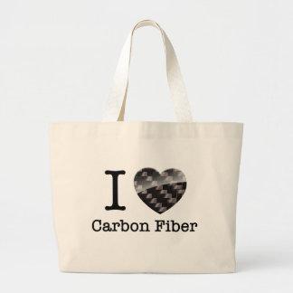 I Love Carbon Fiber Large Tote Bag
