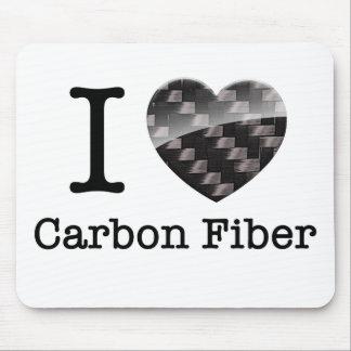 I Love Carbon Fiber Mouse Pad