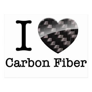 I Love Carbon Fiber Postcard