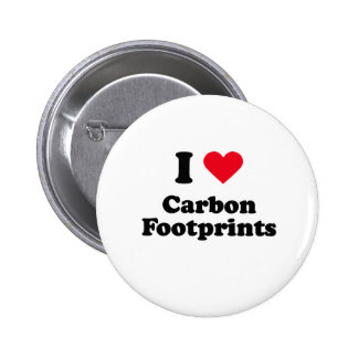 I love carbon footprints 2 inch round button