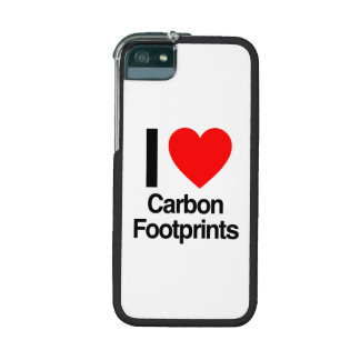 i love carbon footprints iPhone 5/5S cover