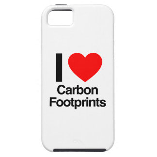 i love carbon footprints iPhone 5 cover