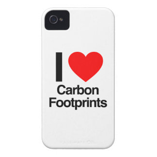 i love carbon footprints Case-Mate iPhone 4 case